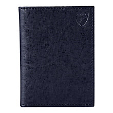 Buy Aspinal of London Double Fold Credit Card Leather Case, Navy Online at johnlewis.com
