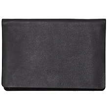 Buy COLLECTION by John Lewis Cora Leather Panel Clutch Bag, Black Online at johnlewis.com
