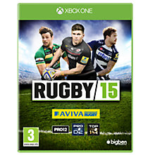 Buy Rugby 15, Xbox One Online at johnlewis.com