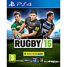 Buy Rugby 15, PS4 Online at johnlewis.com
