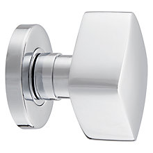 Buy John Lewis Concealed Square Mortice Knobs, Chrome, Pair, Dia.55mm Online at johnlewis.com