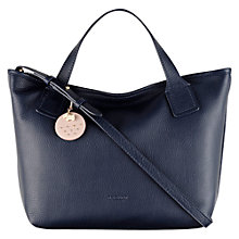 Buy Radley Battersea Leather Multiway Grab Bag, Navy Online at johnlewis.com