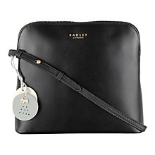 Buy Radley Millbank Leather Across Body Bag, Black Online at johnlewis.com