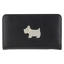 Buy Radley Heritage Dog Medium Leather Purse, Black Online at johnlewis.com