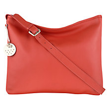 Buy Radley Battersea Across Body Leather Bag, Orange Online at johnlewis.com