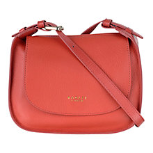 Buy Radley Threadneedle Street Leather Across Body Bag, Orange Online at johnlewis.com
