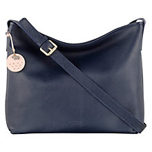 Buy Radley Battersea Across Body Leather Bag, Navy Online at johnlewis.com