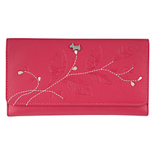 Buy Radley Laurel Leaf Leather Large Trifold Purse, Pink Online at johnlewis.com
