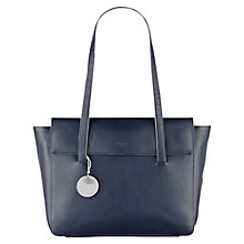 Buy Radley Kew Large Leather Shoulder Bag, Navy Online at johnlewis.com