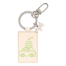 Buy Radley Homeward Bound Keyring, Ivory Online at johnlewis.com