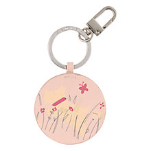 Buy Radley Dog Days Leather Keyring, Pale Pink Online at johnlewis.com