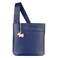 Buy Radley Pocket Small Leather Across Body Bag, Navy Online at johnlewis.com