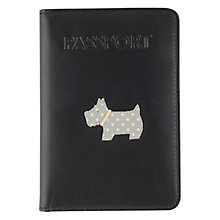 Buy Radley Heritage Dog Passport Cover, Black Online at johnlewis.com