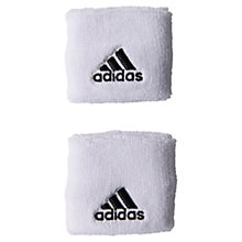 Buy Adidas Tennis Wristbands, Large, White Online at johnlewis.com