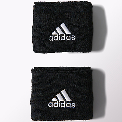 Adidas Tennis Wristbands, Small, Pack of 2, Black