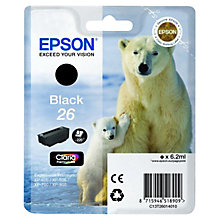 Buy Epson Polar Bear 26 Ink Cartridge, Black Online at johnlewis.com