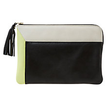 Buy Mint Velvet Lauren Lime Clutch, Green Online at johnlewis.com