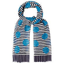 Buy White Stuff Big Spot On Stripe Scarf, Multi Online at johnlewis.com