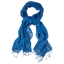 Buy White Stuff Street Scarf, Blue Online at johnlewis.com