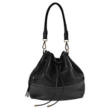 Buy Mint Velvet Ira Drawstring Bag, Black Online at johnlewis.com