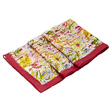 Buy Viyella Flower Garden Printed Scarf, Rose Online at johnlewis.com