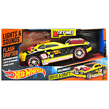 Buy Hot Wheels Flash Drifter Racer, Assorted Online at johnlewis.com