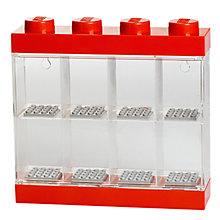 Buy LEGO Minifigure Display Case, 8 Figures, Red Online at johnlewis.com
