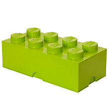 Buy LEGO 8 Stud Storage Brick, Lime Online at johnlewis.com