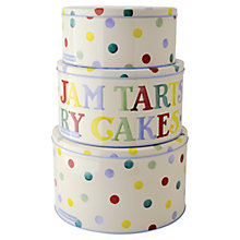 Buy Emma Bridgewater Polka Dot Cake Tins, Set of 3 Online at johnlewis.com
