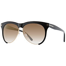 Buy TOM FORD FT0365 Cat Eye Sunglasses, Black Online at johnlewis.com