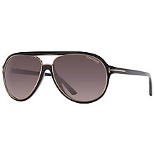 Buy TOM FORD FT0379 Rectangular Sunglasses, Black Online at johnlewis.com