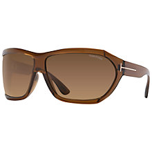 Buy TOM FORD FT0402 Sedgewick Wrap Around Sunglasses Online at johnlewis.com