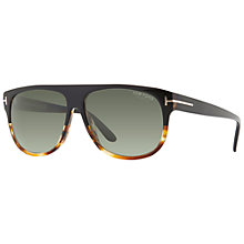 Buy TOM FORD Kristen FT0375 Rectangular Sunglasses, Black Online at johnlewis.com