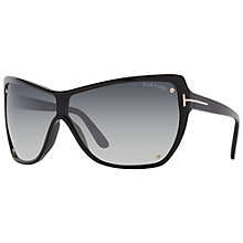 Buy TOM FORD FT0363 Wrap Around Sunglasses, Black Online at johnlewis.com