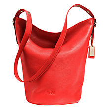 Buy Coach Duffle Leather Bucket Bag, Red Online at johnlewis.com