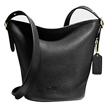 Buy Coach Mini Duffle Leather Shoulder Bag Online at johnlewis.com