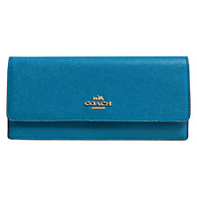 Buy Coach Embossed Textured Leather Wallet, Blue Online at johnlewis.com