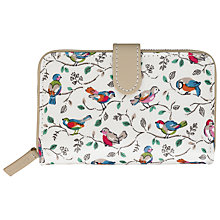 Buy Cath Kidston Little Birds Folded Zip Wallet, Multi Online at johnlewis.com