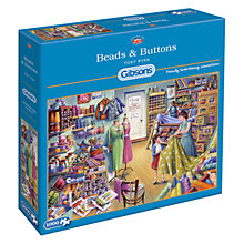 Buy Gibsons Beads and Buttons Jigsaw Puzzle, 1000 Pieces Online at johnlewis.com