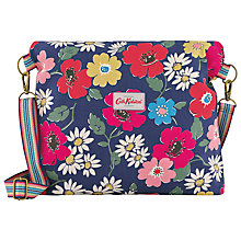 Buy Cath Kidston Paradise Flower Folded Messenger Bag, Blue Online at johnlewis.com