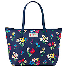 Buy Cath Kidston Paradise Bunch Small Leather Trim Tote, Blue Online at johnlewis.com