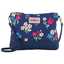 Buy Cath Kidston Paradise Bunch Small Cross Body Bag, Indigo Online at johnlewis.com