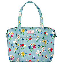 Buy Cath Kidston Paradise Bunch Large Zipped Shoulder Bag, Blue Online at johnlewis.com