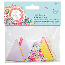 Buy Docraft Papermania Bellissima Mini Bunting and Twine, 24 Pieces Online at johnlewis.com