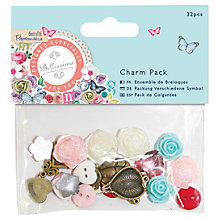 Buy Docrafts Papermania Bellissima Charms, Pack of 32 Online at johnlewis.com
