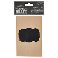 Buy Docraft Papermania Chalkboard Craft Gift Bags, Pack of 6 Online at johnlewis.com
