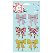 Buy Docrafts Papermania Bellissima 3D Bows, Pack of 6, Multi Online at johnlewis.com