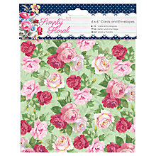 "Buy Docrafts Papermania Simply Floral Card & Envelopes, 6 x 6"" Online at johnlewis.com"