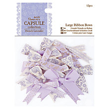 Buy Docrafts Papermania Large Ribbon Bows, Pack of 12, French Lavender Online at johnlewis.com