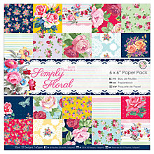 "Buy Docrafts Papermania Simply Floral 6x6"" Paper Pack, Pack of 32 Online at johnlewis.com"